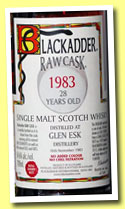Glen Esk 28 yo 1983/2012 (54.6%, Blackadder, Raw Cask, refill sherry butt, cask #4929, 248 bottles)